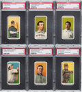 Baseball Cards:Lots, 1909-11 T206 White Borders PSA EX 5 Graded Collection (6) - AllHall of Famers! ...