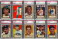 Baseball Cards:Lots, 1952 Topps Baseball Low Numbers PSA EX-MT 6 Collection (10) - Starsand HoFers. ...