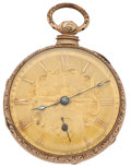 Timepieces:Pocket (pre 1900) , Branston Liverpool Gold Filled Lever Fusee Pocket Watch. ...