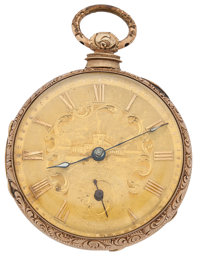 Branston Liverpool Gold Filled Lever Fusee Pocket Watch