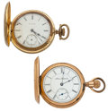 Timepieces:Pocket (post 1900), Illinois & Elgin 16 Sizes Pocket Watches For Parts Or Repair.... (Total: 2 Items)