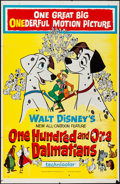 """Movie Posters:Animation, 101 Dalmatians & Other Lot (Buena Vista, 1961). One Sheets (2)(27"""" X 41"""") Regular & Style B. Animation.. ... (Total: 2 Items)"""