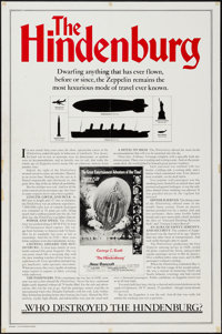"The Hindenburg (Universal, 1975). One Sheet (27"" X 41"") Zeppelin Facts Style. Thriller"