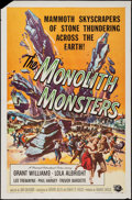 "Movie Posters:Science Fiction, The Monolith Monsters (Universal International, 1957). One Sheet(27"" X 41""). Science Fiction.. ..."