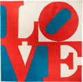 Prints:Contemporary, ROBERT INDIANA (American, b. 1928). Chosen Love. Wool. 96 x96 inches (243.8 x 243.8 cm). Ed. 68/175. Signed and numbere...