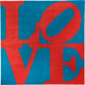 Post-War & Contemporary:Contemporary, ROBERT INDIANA (American, b. 1928). Chosen Love. Wool. 120 x120 inches (304.8 x 304.8 cm). Ed. 46/125. Signed and numbe...