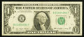 Error Notes:Offsets, Fr. 1909-B $1 1977 Federal Reserve Note. Very Fine.. ...