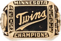 Baseball Collectibles:Others, 1965 Minnesota Twins American League Championship Ring....