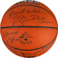 Basketball Collectibles:Balls, 1990's Chicago Bulls Team Signed Basketball. ...