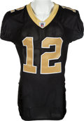 Football Collectibles:Uniforms, 2010 Marques Colston Game Worn New Orleans Saints Jersey - Worn in the NFC Championship Game Vs. Minnesota....
