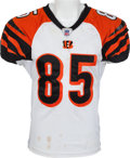 Football Collectibles:Uniforms, 2006 Chad Ocho Cinco Johnson Game Worn Unwashed Cincinnati Bengals Jersey - Worn 1/1 Vs. Kansas City....