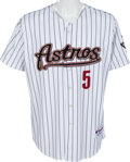 Baseball Collectibles:Uniforms, Circa 2005 Jeff Bagwell Game Worn Houston Astros Jersey. ...