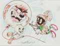 Animation Art:Production Drawing, Tom McKimson - Tasmanian Devil, Tweety Bird, and Marvin the MartianIllustration Animation Art (Warner Brothers, 1980-90s). ...