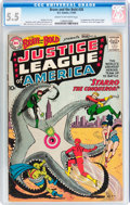 Silver Age (1956-1969):Superhero, The Brave and the Bold #28 Justice League of America (DC, 1960) CGC FN- 5.5 Cream to off-white pages....