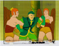 Animation Art:Production Cel, The New Adventures of Flash Gordon Hawk Men Production CelSetup Animation Art with COA (Filmation, 1979).. ... (Total: 4Items)