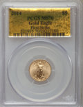 Modern Bullion Coins, 2014 $5 Tenth-Ounce Gold Eagle, First Strike MS70 PCGS. PCGS Population (1215). NGC Census: (0)....