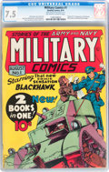 Golden Age (1938-1955):War, Military Comics #1 (Quality, 1941) CGC VF- 7.5 Off-white to whitepages....