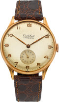 Timepieces:Wristwatch, Cortebert Gent's 18k Pink Gold Vintage Wristwatch, circa 1950's....