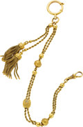 Timepieces:Watch Chains & Fobs, Ornate Antique Gold Watch Chain. ...