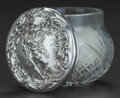 Silver & Vertu:Hollowware, A FOSTER & BAILEY SILVER AND GLASS VANITY JAR, Providence, Rhode Island, circa 1878-1898. Marks: F&B (in flag), STERLI...
