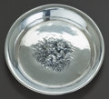 Silver Holloware, American:Plates, AN UNGER BROTHERS LOVE'S DREAM PATTERN SILVER PIN TRAY,.Newark, New Jersey, circa 1900. Marks: UB (interlac...
