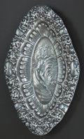 Silver Holloware, American:Vanity, AN UNGER BROTHERS BRIDE OF THE WAVES PATTERN SILVER CARDTRAY, Newark, New Jersey, circa 1900. Marks: UB (in...