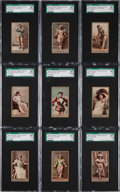 "Non-Sport Cards:Sets, 1890s N210 Kinney ""Actresses"" SGC-Graded Complete Set (25). ..."