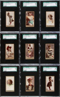 "Non-Sport Cards:Sets, 1890s N211 Kinney ""Actresses"" SGC-Graded Complete Set (25). ..."