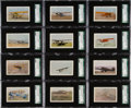 "Non-Sport Cards:Sets, 1930s E195 Necco Candies ""Real Airplane Pictures"" SGC Complete Set(12). ..."