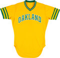 Baseball Collectibles:Uniforms, 1981 Mitchell Page Game Worn Oakland A's Jersey. ...