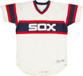 Baseball Collectibles:Uniforms, 1986 Ron Hassey Game Worn Chicago White Sox Jersey. ...