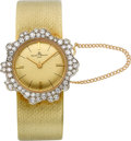 Timepieces:Wristwatch, Baume & Mercier Lady's Diamond & Gold Wristwatch. ...