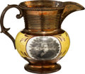 Political:3D & Other Display (pre-1896), Andrew Jackson: Large Size Copper Luster Pitcher....