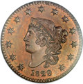 Proof Large Cents, 1829 1C Bronzed PR66 Brown NGC. N-6, High R.6 as a Proof. Our EAC Grade PR63....