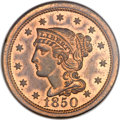 Proof Large Cents, 1850 1C PR66 Red and Brown NGC. N-11, R.7 as a Proof. Our EAC GradePR64....