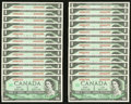 Canadian Currency: , BC-45b-i $1 1967, Twenty-Four Examples.. ... (Total: 24 notes)
