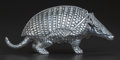 Silver Smalls:Other , A SILVER-PLATED ARMADILLO DOUBLE INKWELL, 20th century. 3 x 2 x6-1/2 inches (7.6 x 5.1 x 16.5 cm). ...