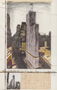 CHRISTO (Bulgarian/American, b. 1935) Wrapped Building (Project for #1 Times Square, Allied Chemical Tower, New