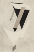 Prints:European Modern, EL LISSITZKY (Russian, 1890-1941). Proun III, 1923. Lithograph in colors. 23-5/8 x 17-1/4 inches (60.0 x 43.8 cm). From ...