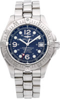 "Timepieces:Wristwatch, Breitling A17360 Steel ""SuperOcean"" Automatic Chronometer. ..."