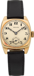 Timepieces:Wristwatch, Rolex Ref. 554 Vintage Gold Wristwatch, 27 mm, circa 1930. ...