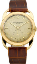 Timepieces:Wristwatch, Vacheron & Constantin Rare Large Gold Wristwatch With Unusual Lugs, circa 1950. ...