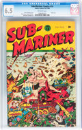 Golden Age (1938-1955):Superhero, Sub-Mariner Comics #14 (Timely, 1944) CGC FN+ 6.5 Off-white pages....