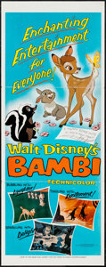 "Movie Posters:Animation, Bambi (Buena Vista, R-1975). Insert (14"" X 36""). Animation.. ..."