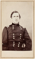 Photography:CDVs, Union General Edward R.S. Canby Carte de Visite & Clipped Signature.... (Total: 2 )