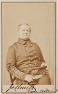 Photography:CDVs, Union Rear Admiral Joseph Smith Signed Carte de Visite....