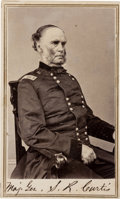 Photography:CDVs, Union General Samuel R. Curtis Signed Carte de Visite and Clipped Signature.. ... (Total: 2 )
