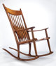 SAM MALOOF (American, 1916-2009) Rocker (No. 43), 1989 Walnut, ebony 45-1/2 x 26-1/4 x 44-3/4 inches (115.6 x 66.7 x...