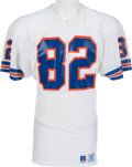 Football Collectibles:Uniforms, 1985-88 Vance Johnson Game Worn Denver Broncos Jersey, MEARS A10....