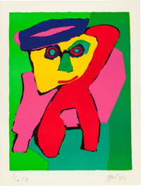 KAREL APPEL (Dutch, 1921-2006) Personnages (complete portfolio of 8 prints), 1971 Lithogr